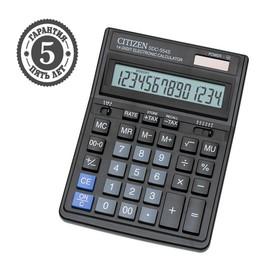 Калькулятор настольный 14-разрядный SDC-554S, 153*199*31 мм, двойное питание, черный