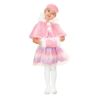 """Карнавальный набор  для девочки """"Искорка"""", 3 предмета: пелерина, муфта, головной убор, цвет розовый"""