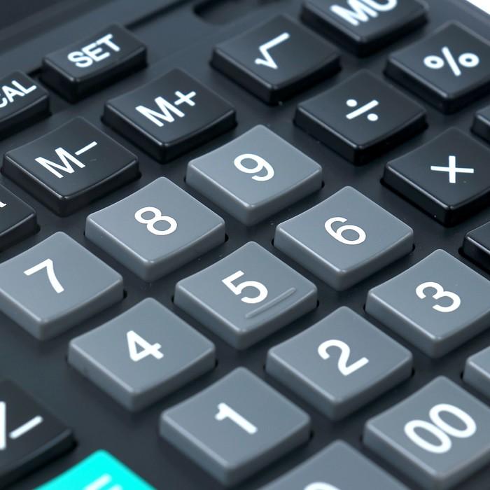 Калькулятор настольный 16-разрядный SDC-664S, 153*199*31 мм, двойное питание, черный - фото 545242948