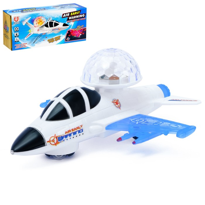 """The plane """"Space Shuttle"""", battery powered light and sound effects"""