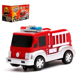 Машина «Пожарная», работает от батареек, световые и звуковые эффекты