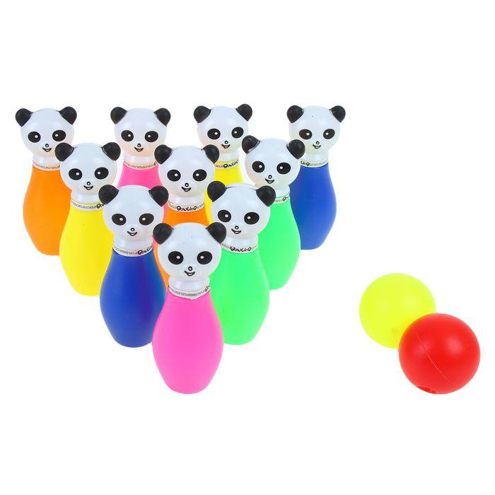 "A set of bowling ""Panda"", 10 pins (height 11.5 cm), 2 balls"
