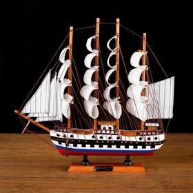Корабль сувенирный средний «Победа», борта триколор, паруса белые, 32 х 32,5 х 7 см