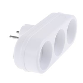 Splitter Toker 3L, 6 A, triple, without s / c, white.
