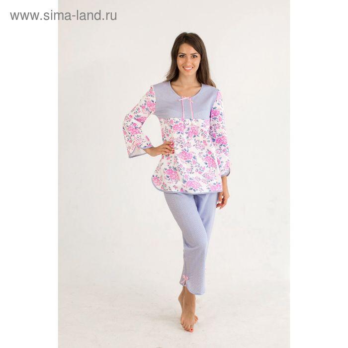 Пижама женская (фуфайка, брюки) Эмма МИКС, р-р 42 футер