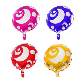 "Balloon foil 18"" ""Crescents"", round, MIX color"