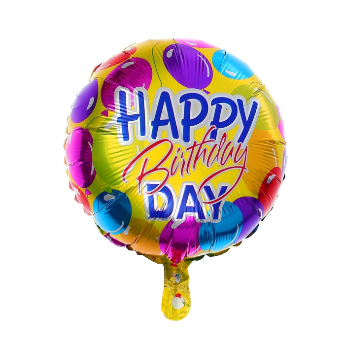 "Balloon foil 18"" ""happy birthday"", balloons, circle"