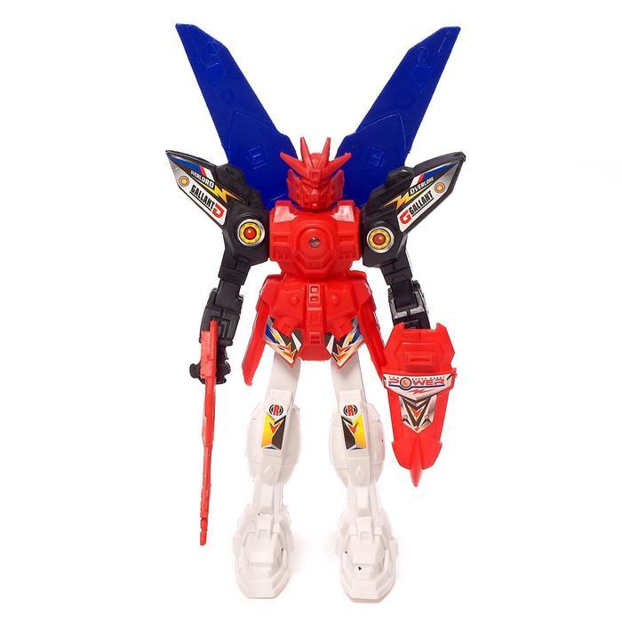 """Фигурка робот """"Воин"""" со световым эффектом, работает от батареек"""