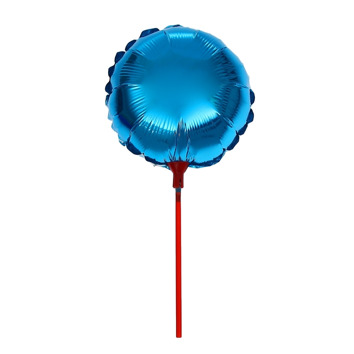 """Balloon foil 10"""" """"Mirror"""" with a stick, round, MIX color"""