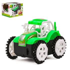 Трактор-перевёртыш «Фермер», работает от батареек, цвета МИКС