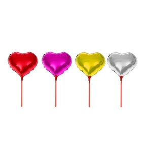 """Balloon foil 10"""" """"Heart"""", the mirror, the wand, MIX color"""