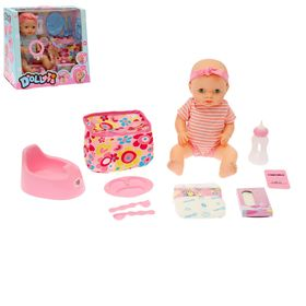 "The functional doll ""Baby"" with accessories, drinks, writes, audio features, MIX"