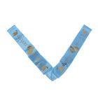 """Лента на капот V-образная """"Совет да любовь"""", атлас с резинками, 320 *10 см, голубая"""