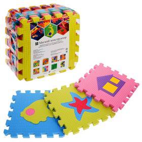 Детский коврик-пазл «Два ежа», термоплёнка