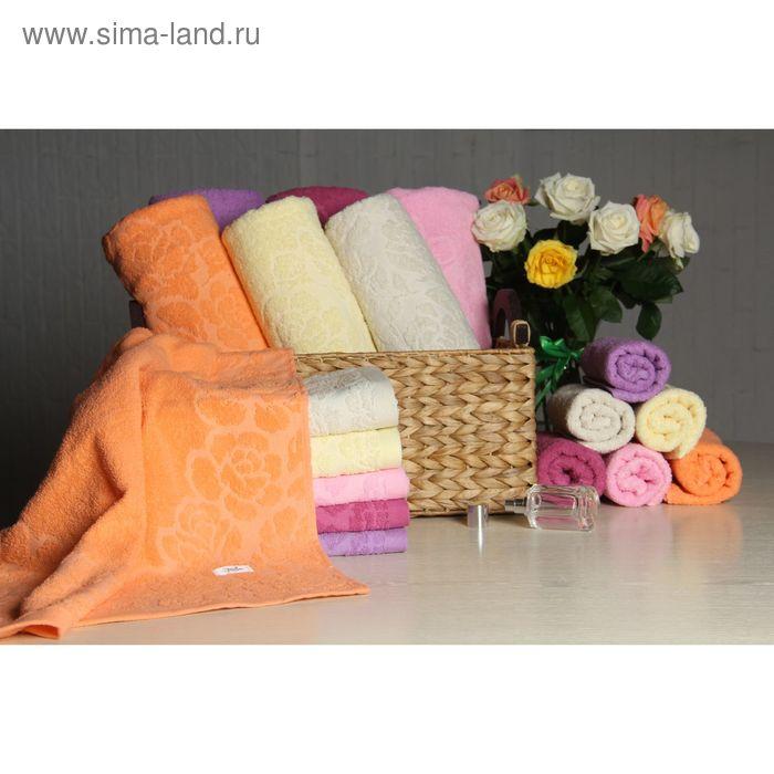 """Полотенце махровое """"Этель"""" Флоренция оранжевый 50-90 см, 100% хлопок, 400гр/м2"""