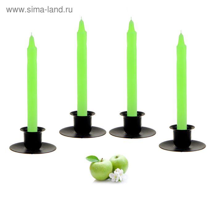 Свеча восковая (набор 4 шт), аромат яблоко