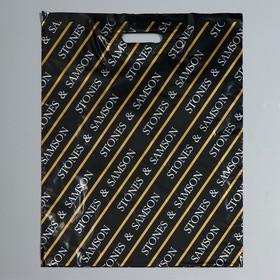 """Пакет """"Камни"""", полиэтиленовый с вырубной ручкой, 40 х 50 см, 45 мкм"""