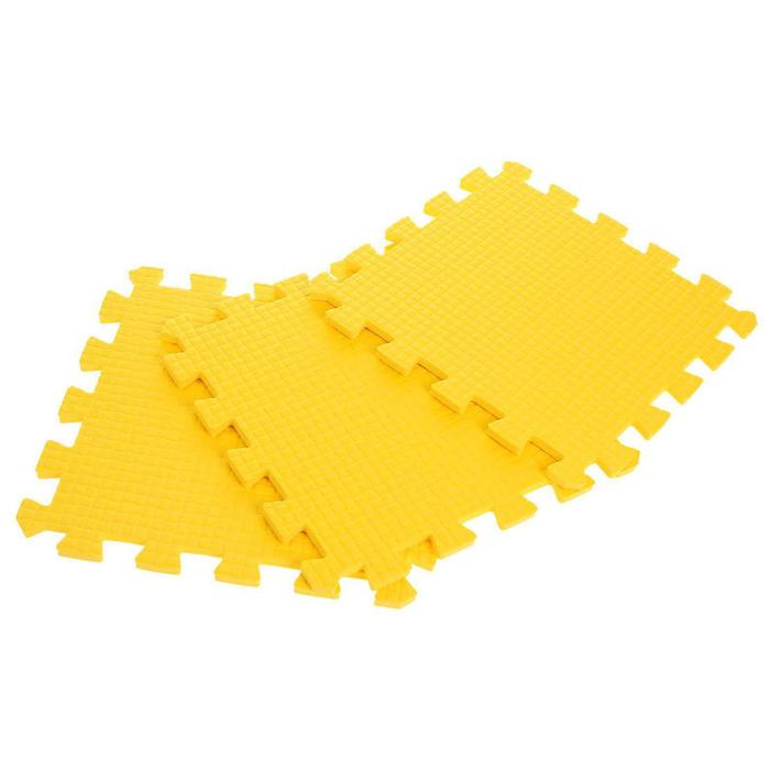 Children's rug puzzle (soft), 9 elements, thickness 0.9 cm, color yellow.