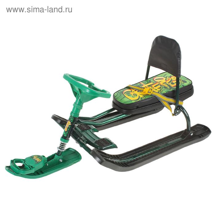 """Снегокат """"Тимка Спорт 4-1"""", """"Граффити"""", цвет зелёный"""
