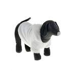 Шубка белая с капюшоном для собак,  (ДС=19 см, ОГ=31 см, ОШ=22 см) XS