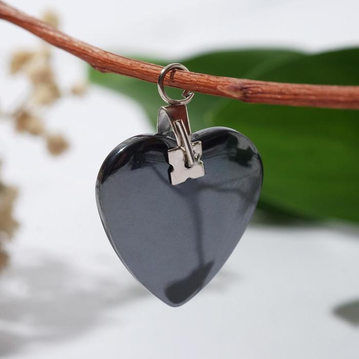 "Pendant ""Hematite"" heart small"