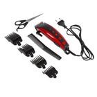 Машинка для стрижки волос Irit IR-3308, 10 Вт, 220 В, 4 насадки, красная