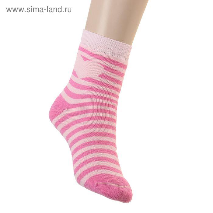 Носки детские плюшевые ПФС102-2541, цвет розовый, р-р 20-22
