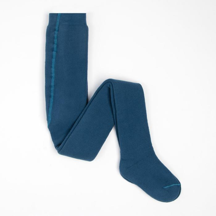 Terry children's tights, color jeans, height 122-128 cm