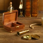"Gift set in the box ""Skipper"" (compass, spyglass)"