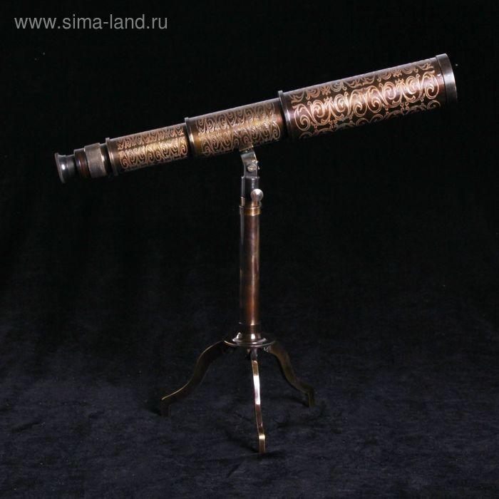 """Сувенирная подзорная труба на подставке """"Фокус"""", линза 4х"""