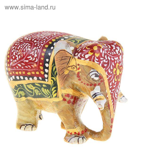 """Сувенир """"Слон"""" из камня, с росписью"""