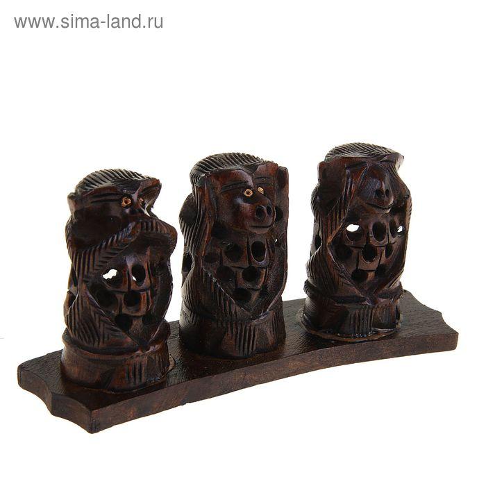 """Сувенир """"Три обезьяны"""" резные"""