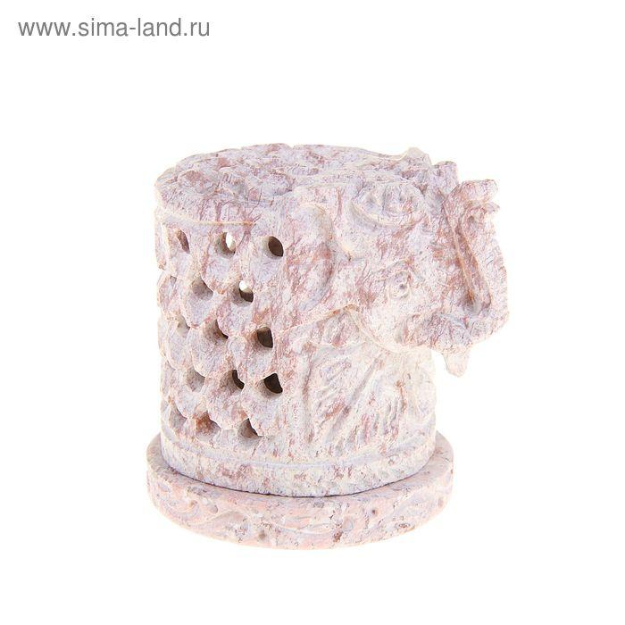 """Подсвечник из камня """"Слон"""" резной"""