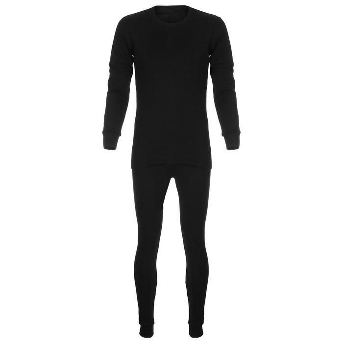 Термобельё мужское «Сибирь», размер 44-46, цвет чёрный
