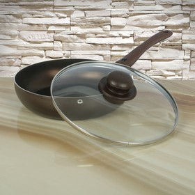 Frying pan 24 cm Compliment, with lid and adjustable handle.