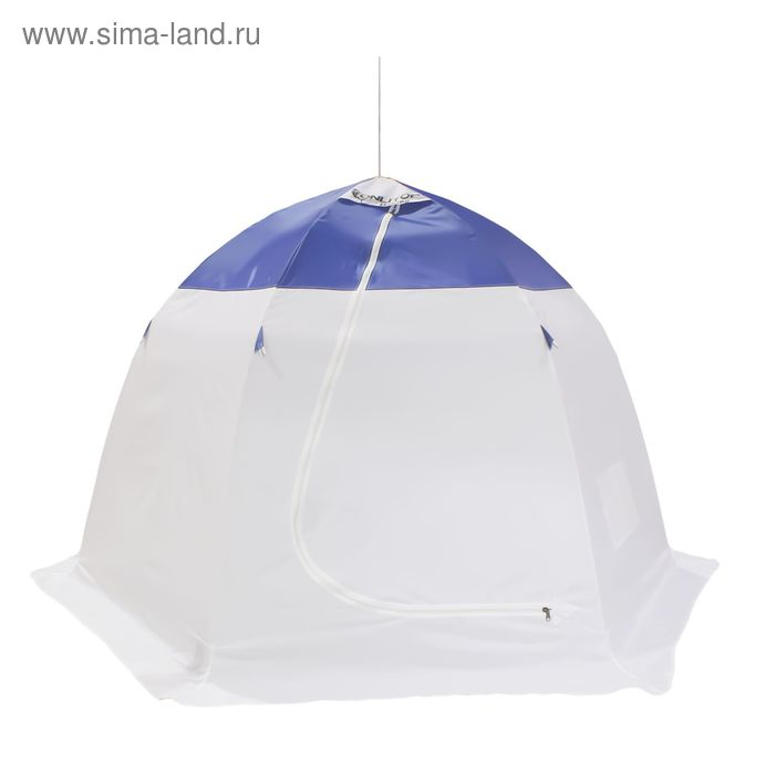 Палатка зимняя 3 местная, цвет бело-синий