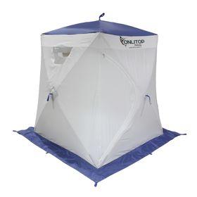 Палатка 'Призма Люкс' 150, 3-слойная, цвет бело-синий Ош