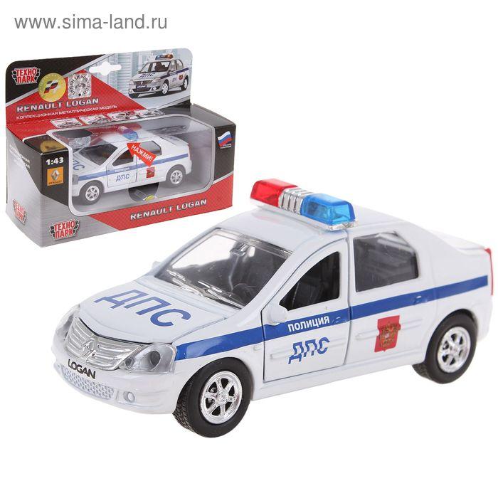 """Машина металлическая """"Renault Logan. ДПС"""" 1:43"""