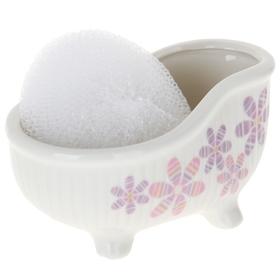 "Stand 250 ml with sponge bath ""Daisy"""