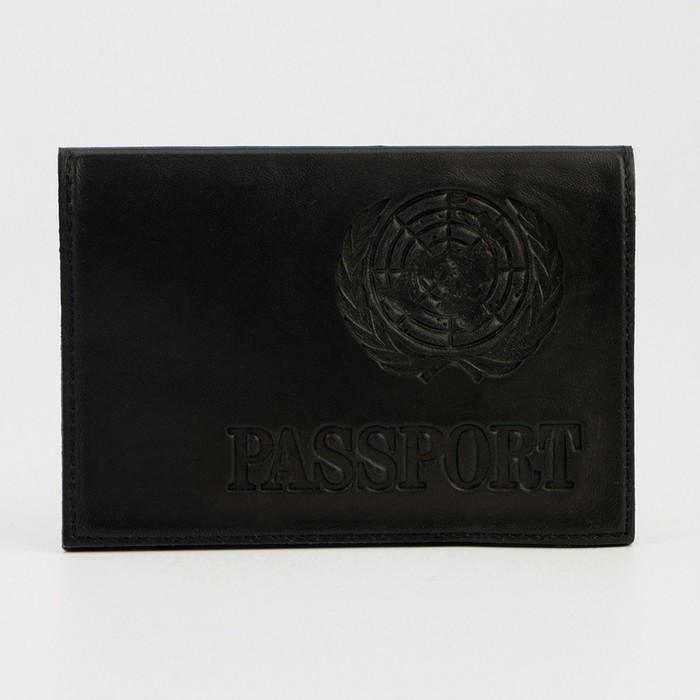 Passport cover, letters, color black