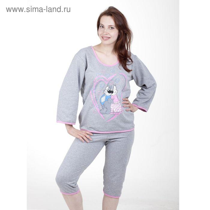 Пижама женская (фуфайка, бриджи) п68 МИКС, р-р 50 футер
