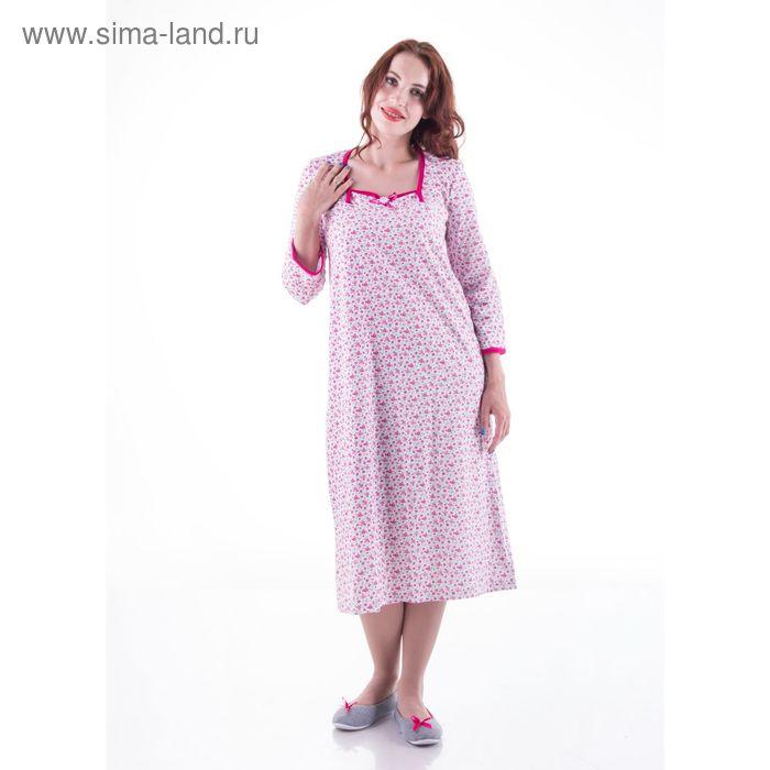 Сорочка женская с длинным рукавом сн11к МИКС, р-р 46 футер