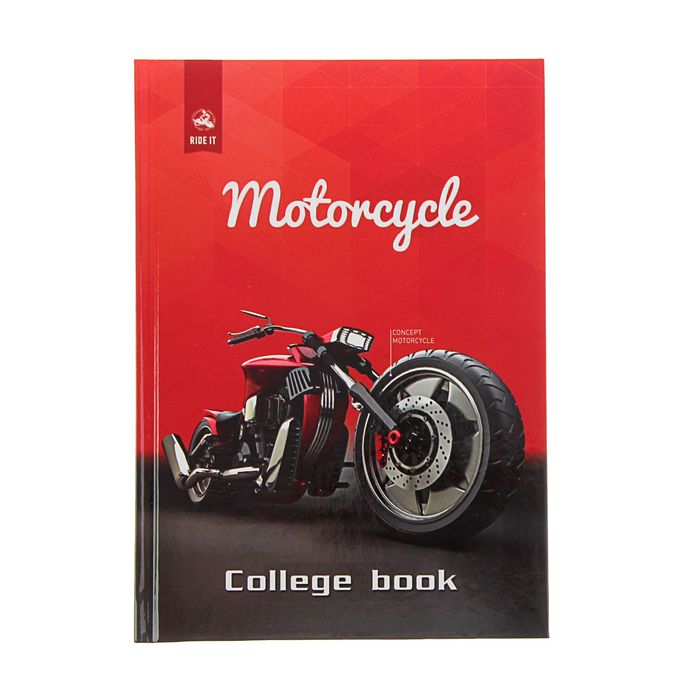 A5 College Notebook, 160 sheets Motorcycle cage, hardcover