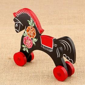 Souvenir Horse, small, Gorodetskaya Rospis, mix