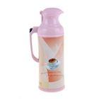 Термос-кофейник с кнопкой «Чашка кофе», 2 л, розовый
