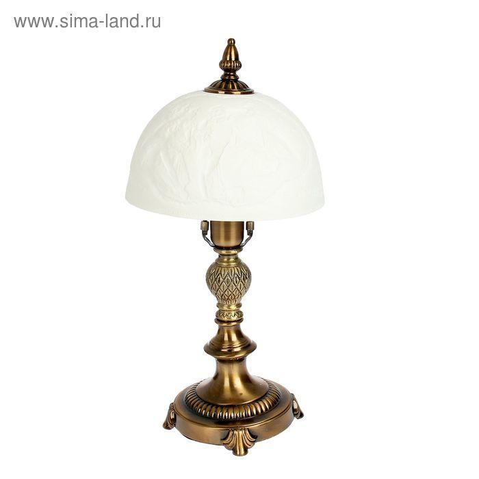"""Лампа настольная керамический абажур """"Игры с ангелом"""""""