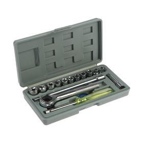 Socket set TUNDRA basic, universal case 17 items
