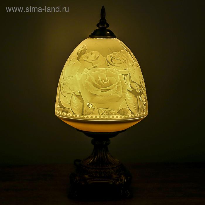 """Лампа настольная керамический абажур """"Розарий"""""""