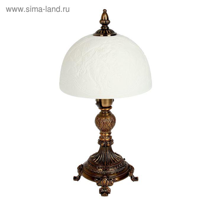 """Лампа настольная керамический абажур """"Свидание"""""""