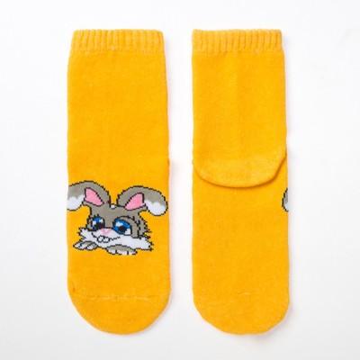 Носки детские махровые ES-13, цвет желтый, размер 18-20